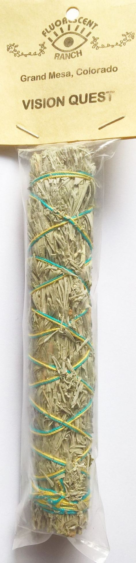 "Vision Quest 7"" Smudge Stick: Red Willow, Osha Root, Fennel, Mullein, Cascara Sagrada & Blue Sage"